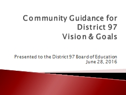 Community Guidance for District 97