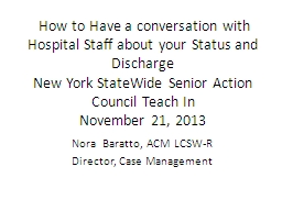 How to Have a conversation with Hospital Staff about your