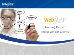 Training Demo: