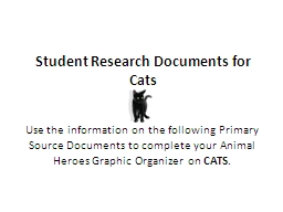 Student Research Documents for