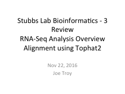 Stubbs Lab Bioinformatics -