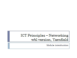 ICT Principles – Networking