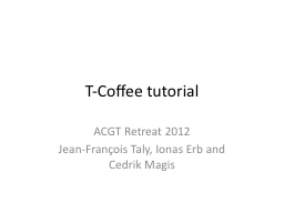 T-Coffee tutorial PowerPoint PPT Presentation