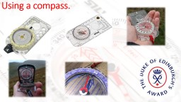 Using a compass.