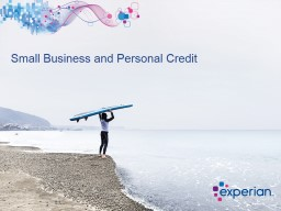 Small Business and Personal Credit