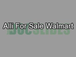 Alli For Sale Walmart