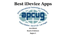 Best iDevice Apps