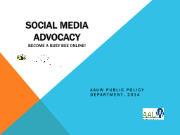 Social Media Advocacy PowerPoint PPT Presentation