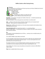 Blu ers Guide to a Wine Tasting Evening To set up For