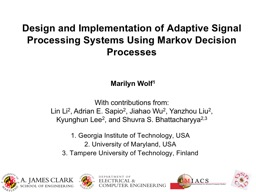 Design and Implementation of Adaptive Signal