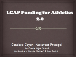 LCAP Funding for Athletics