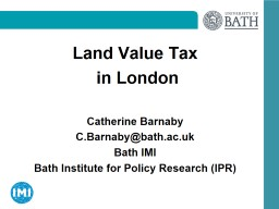Land Value Tax PowerPoint PPT Presentation