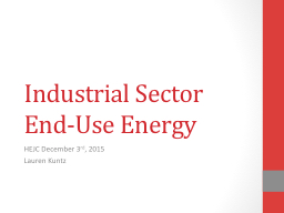 Industrial Sector End-Use Energy