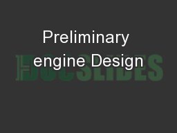 Preliminary engine Design