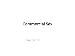Commercial Sex
