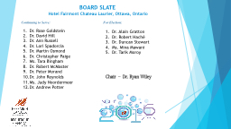 Chairperson's Report