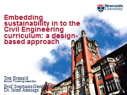 Embedding sustainability in to the Civil Engineering curric