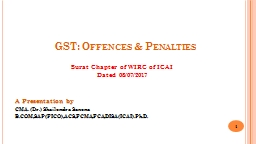 GST: Offences & Penalties