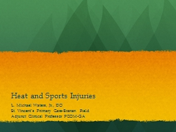 Heat and Sports Injuries