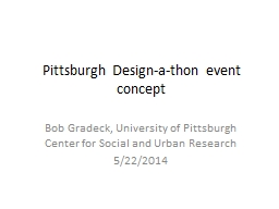Pittsburgh Design-a-thon event concept