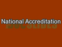 National Accreditation