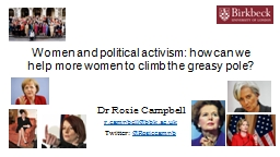 Women and political activism: how can we help more women to PowerPoint PPT Presentation