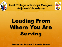 Joint College of Bishops Congress