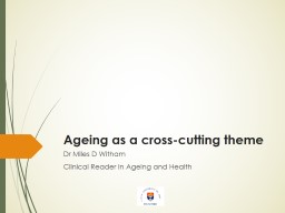 Ageing as a cross-cutting theme