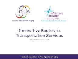 Innovative Routes in Transportation Services PowerPoint PPT Presentation