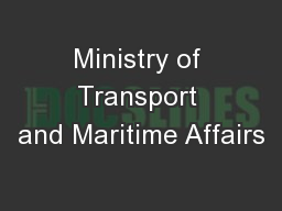 Ministry of Transport and Maritime Affairs