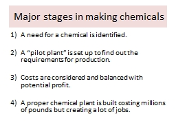 Major stages in making chemicals PowerPoint PPT Presentation