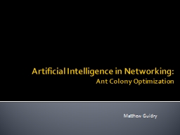 Artificial Intelligence in Networking: