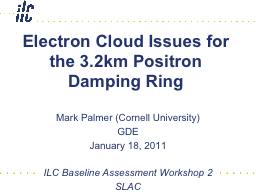 Electron Cloud Issues for the 3.2km Positron Damping Ring
