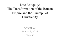 Late Antiquity: