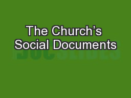 The Church's Social Documents
