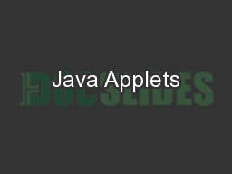 Java Applets