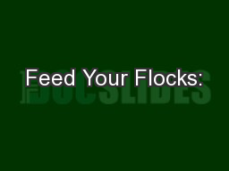 Feed Your Flocks: