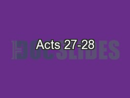 Acts 27-28 PowerPoint PPT Presentation