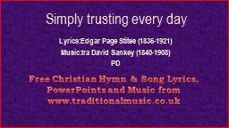 Simply trusting every day