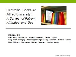 Electronic Books at Alfred University: