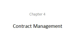 Contract Management PowerPoint PPT Presentation