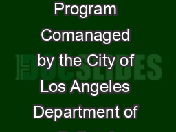City of Los Angeles Poet Laureate Program Comanaged by the City of Los Angeles Department of Cultural Affairs DCA culturela