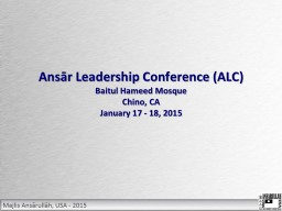 Ansār Leadership Conference (ALC)
