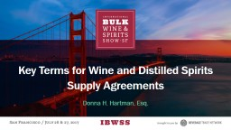 Key Terms for Wine and Distilled Spirits