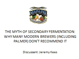 The Myth of Secondary Fermentation: Why Many Modern Brewers