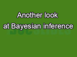 Another look at Bayesian inference