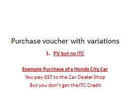 Purchase voucher with variations