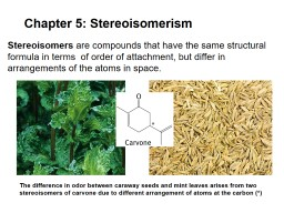 Chapter 5: Stereoisomerism