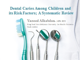 Dental Caries Among Children and