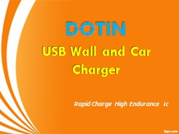 DOTIN USB Wall and Car Charger